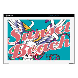 Oxygentees Sunset Beach Decals For Laptops