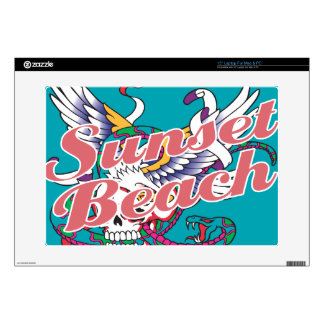 "Oxygentees Sunset Beach Skins For 15"" Laptops"