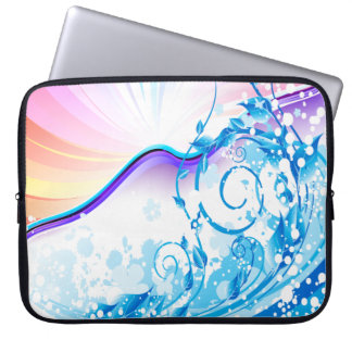 Oxygentees Surfs Up Laptop Sleeve