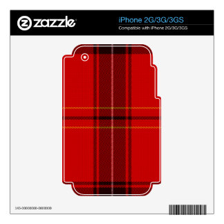 Oxygentees Tartan Red Plaid iPhone 3GS Decal