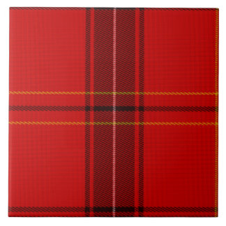 Oxygentees Tartan Red Plaid Large Square Tile