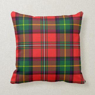 Oxygentees Tartan Red Plaid Throw Pillow