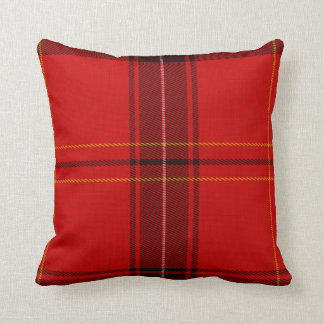 Oxygentees Tartan Red Plaid Throw Pillows