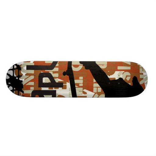 Oxygentees Underground Riot Custom Skateboard