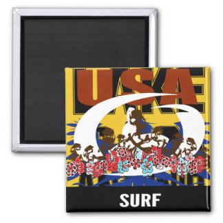 Oxygentees USA Surf Magnet