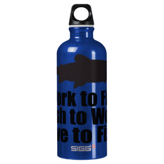 Oxygentees Work to Fish Liberty SIGG Traveler 0.6L Water Bottle
