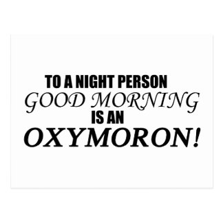 Oxymoron de la buena mañana tarjetas postales