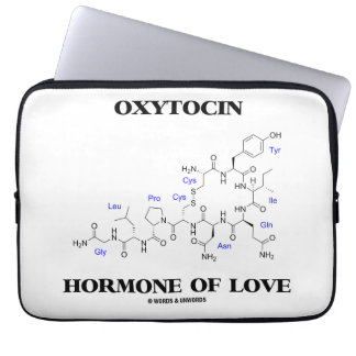Oxytocin Hormone Of Love (Chemistry) Computer Sleeve