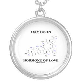 Oxytocin Hormone Of Love (Chemistry) Round Pendant Necklace