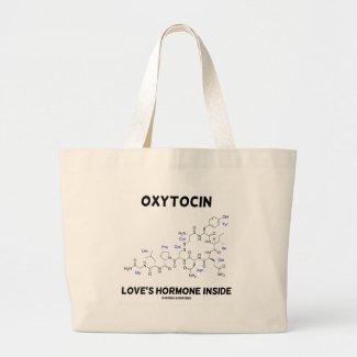 Oxytocin Love's Hormone Inside (Chemistry) Tote Bags