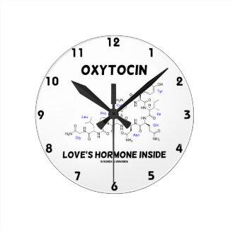 Oxytocin Love's Hormone Inside (Chemistry) Wallclock