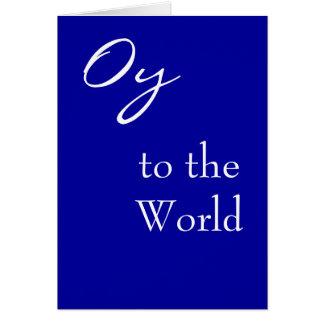 Oy a la tarjeta de Hannukah del mundo