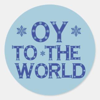 OY a los pegatinas del mundo Pegatina Redonda