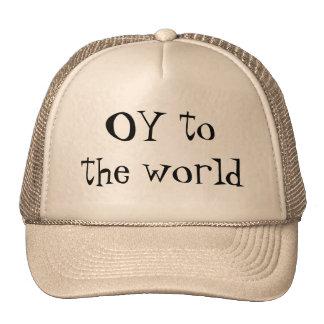 OY al gorra judío jídish del mundo