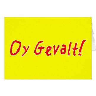 Oy Gevalt! Card