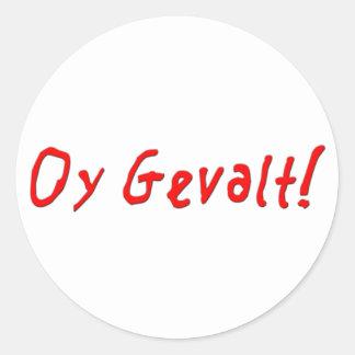 ¡Oy Gevalt! Pegatina Redonda