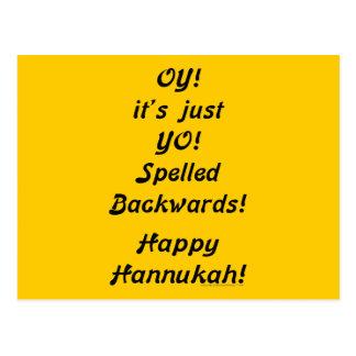 OY! it's just YO! Spelled Backwards! Postcard