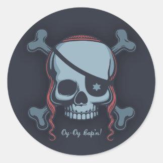 Oy-Oy, Cap'n! Classic Round Sticker