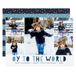 Oy to the World | Hanukkah Photo Collage Card