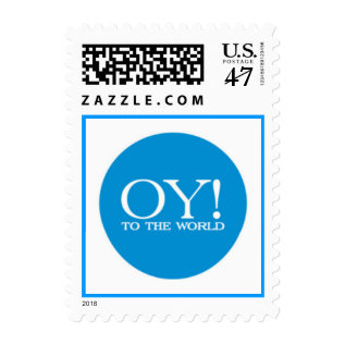Oy to the World Postage Stamp at Zazzle