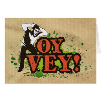 OY VEY - Cool Design with screaming man Card