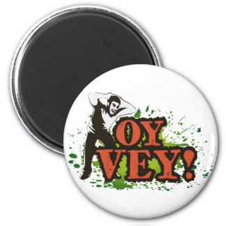 OY VEY - Cool Design with screaming man Fridge Magnets