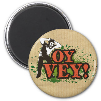 OY VEY - Cool Design with screaming man Refrigerator Magnets
