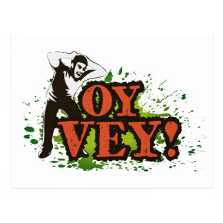 OY VEY - Cool Design with screaming man Postcard