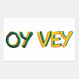 Oy Vey Rectangular Pegatinas