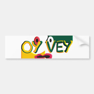 Oy Vey Pegatina Para Auto