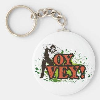 OY VEY - Refresque el diseño con el hombre de Llavero Redondo Tipo Pin