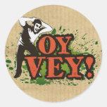 OY VEY - Refresque el diseño con el hombre de Etiquetas Redondas