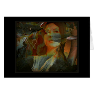 Oya, Goddess Of The Winds and Travel Greeting Card
