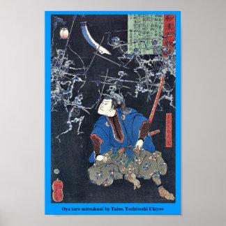 Oya taro mitsukuni by Taiso, Yoshitoshi Ukiyoe Posters