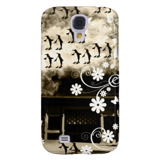 Oyama 祇 shrine and flower and penguin galaxy s4 case