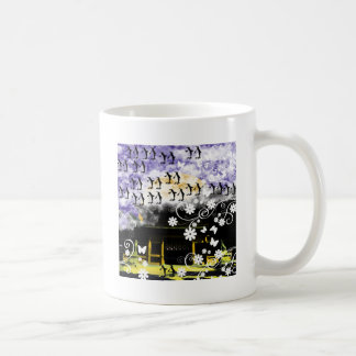 Oyama 祇 shrine and flower and penguin coffee mug