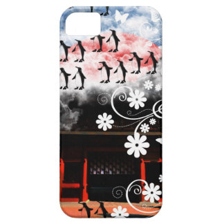 Oyama 祇 shrine and flower and penguin iPhone SE/5/5s case