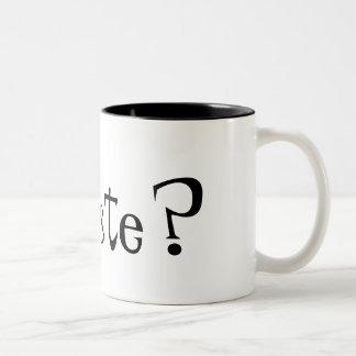 Oyeme chico... Two-Tone coffee mug