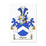 Oyens Family Crest Gallery Wrapped Canvas