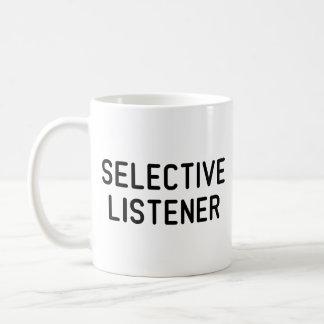 Oyente selectivo taza de café