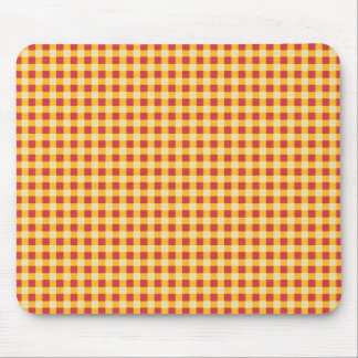 OYSGP ORANGE YELLOW SQUARES CHECKERED BACKGROUNDS MOUSE PAD
