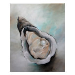 oyster and Pearl Beach Seafood Art Poster