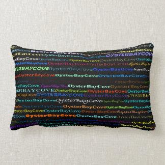 Oyster Bay Cove Text Design I Lumbar Pillow