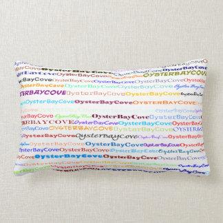 Oyster Bay Cove Text Design II Lumbar Pillow