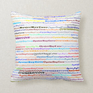 Oyster Bay Cove Text Design II Throw Pillow