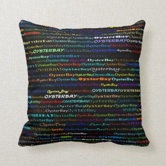 Oyster Bay Text Design I Throw Pillow