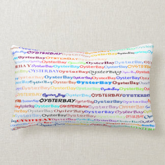 Oyster Bay Text Design II Lumbar Pillow
