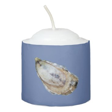 Beach Themed Oyster Candle - Design A Blue
