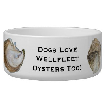 Beach Themed Oyster Dog Bowl