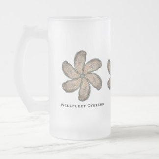 Oyster Flower Glass Mug - Design D